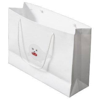 Weißes glückliches Siegel Zioq8 Große Geschenktüte