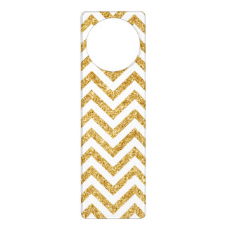 Weißes GoldGlitter-Zickzack Stripes Zickzack Türanhänger