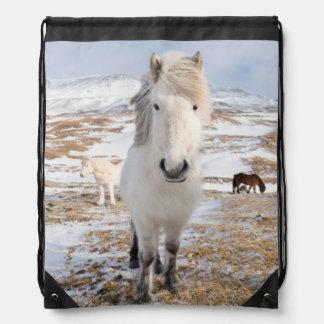 Weißes isländisches Pferd, Island Sportbeutel