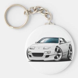 Weißes Kabriolett Nissans 300ZX Schlüsselanhänger