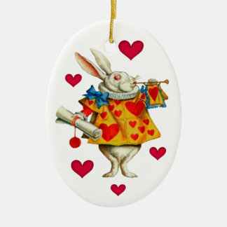Weißes Kaninchen 1 Keramik Ornament
