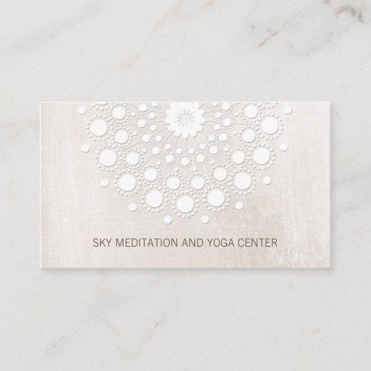 Weißes Lotus Mandala Yoga Und Meditations Lehrer