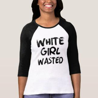 Weißes Mädchen vergeudetes lustiges Shirt