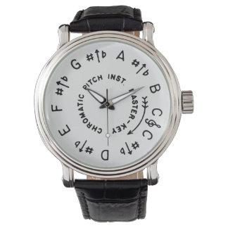 Weißes Pitchpipe Uhr