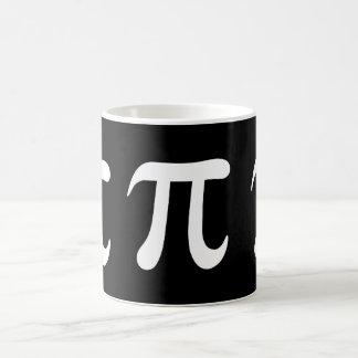 Weißes PU-Symbol auf schwarzem Hintergrund Kaffeetasse
