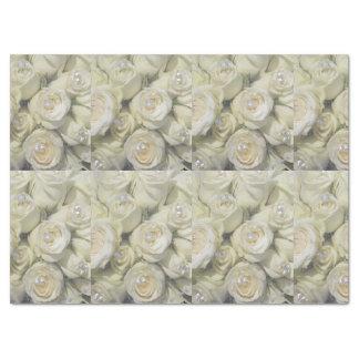 weißes RosenSeidenpapier Seidenpapier