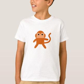Weißes T-shirt mit Affe