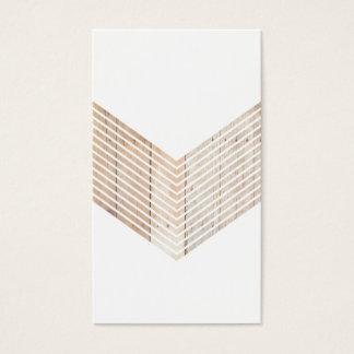 Weißes unbedeutendes Zickzack mit Holz Visitenkarte