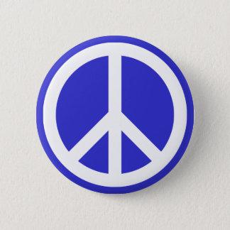 Weißes und blaues Friedenssymbol Runder Button 5,7 Cm