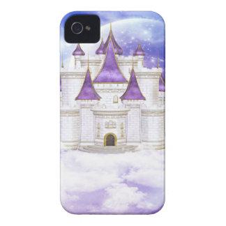 Weißes und lila Schloss Case-Mate iPhone 4 Hülle