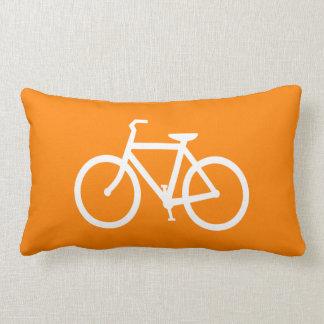 Weißes und orange Fahrrad Lendenkissen