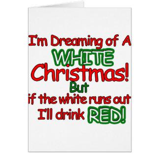 Weißes Weihnachten Karte