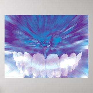 Weißes Zahn-Biss-Zahnarztorthodontist-Plakat Poster
