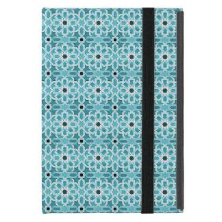 Weißglühendes blaues marokkanisches Muster iPad Mini Hülle