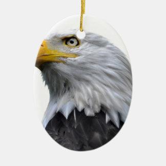 Weißkopfseeadler Ovales Keramik Ornament