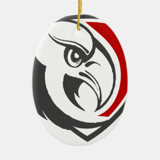 Weißkopfseeadler-Stolz Ovales Keramik Ornament