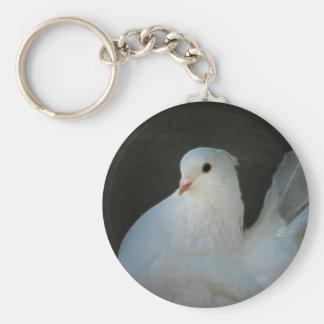 Weißtauben-Friedenssymbol Schlüsselanhänger