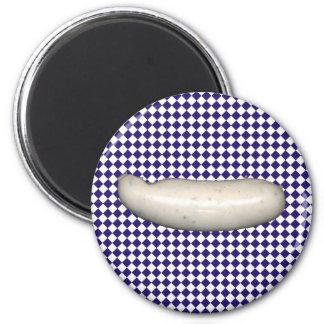 Weisswurst bayerisch runder magnet 5,1 cm