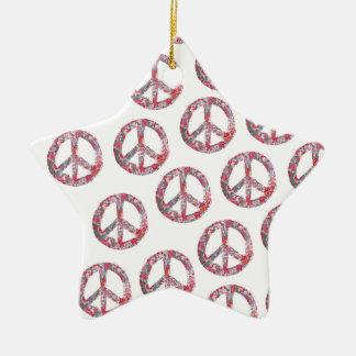 Weit zu hübsche Blumenfriedenssymbole Keramik Ornament