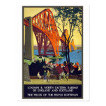 Weiter Brücke - Vintage Reise-Plakat-Kunst Postkarten