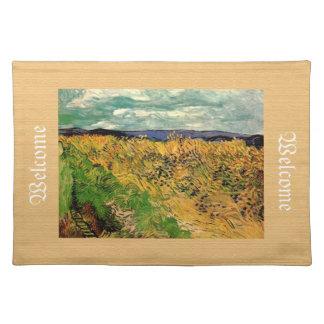 Weizen-Feld mit Cornflowers, Vincent van Gogh Stofftischset