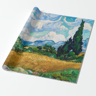 Weizen-Feld mit Zypressen durch Vincent van Gogh Geschenkpapier