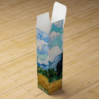 Weizen-Feld mit Zypressen durch Vincent van Gogh Wein-Geschenkverpackung