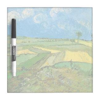 Weizen-Felder bei Auvers unter bewölktem Himmel Memoboard