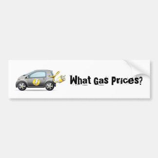 Welche Gaspreise? Autoaufkleber