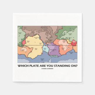 Welche Platte sind Sie stehend eingeschaltet? Papierserviette