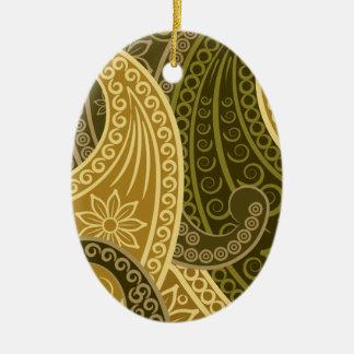Wellcoda Blumen-verrücktes Druck USA-Power-Leben Ovales Keramik Ornament