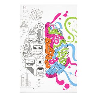 Wellcoda kreative Gehirn-Sinneshauptseite Druckpapiere