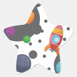 Wellcoda Rocket Mond-Landungs-Raum-Kriege Stern-Aufkleber