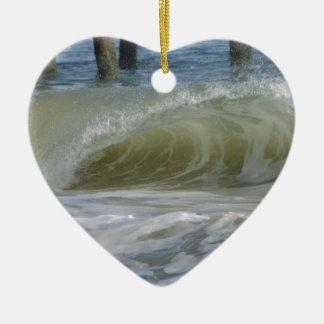 Welle Keramik Herz-Ornament