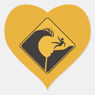 Wellen auf Leiste (1), Zeichen, Hawaii, US Herz Sticker