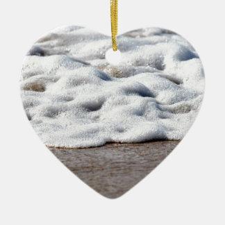 WELLEN AUF STRAND QUEENSLAND AUSTRALIEN KERAMIK Herz-Ornament