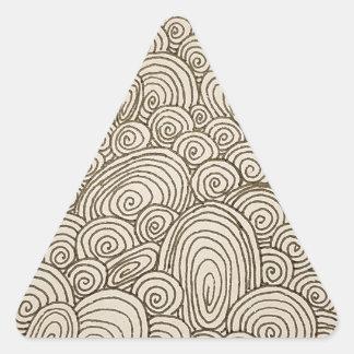 Wellen Dreieckiger Aufkleber