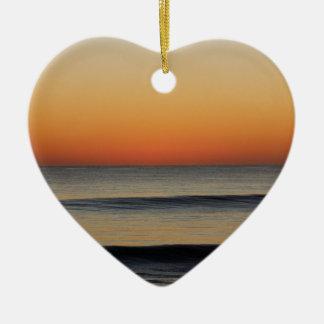 Wellen in Ihnen Horizont Keramik Herz-Ornament