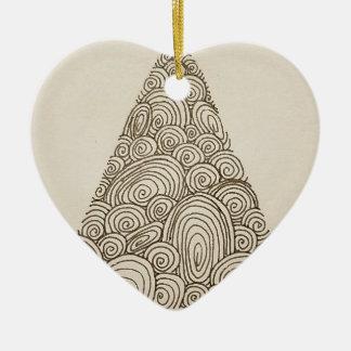 Wellen Keramik Herz-Ornament
