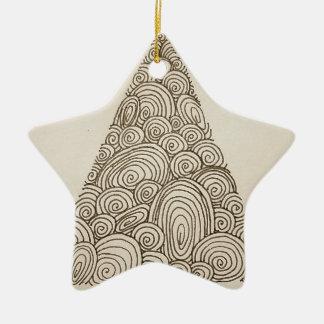 Wellen Keramik Stern-Ornament