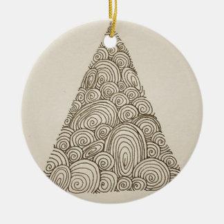 Wellen Rundes Keramik Ornament