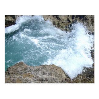 Wellen-Zusammenstoßen Postkarte