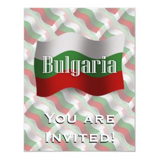 Wellenartig bewegende Flagge Bulgariens 10,8 X 14 Cm Einladungskarte