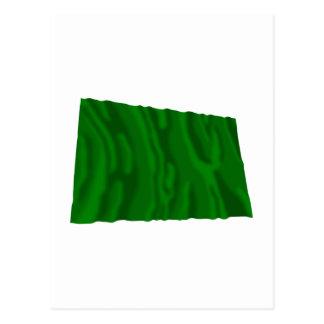 Wellenartig bewegende Flagge Libyens Postkarte
