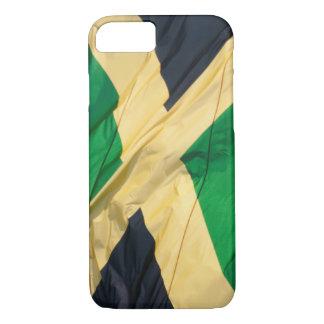 Wellenartig bewegende Flagge von Jamaika iPhone 8/7 Hülle