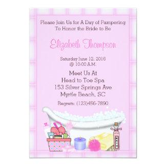 Wellness-Center-Party Einladungen 12,7 X 17,8 Cm Einladungskarte