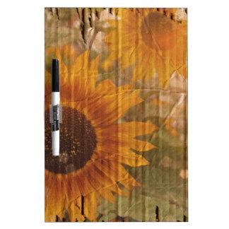 Wellpappen-böhmische gelbe Sonnenblume Trockenlöschtafel