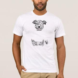 Welpe U (dunkelblau und Weiß dargestellt) T-Shirt
