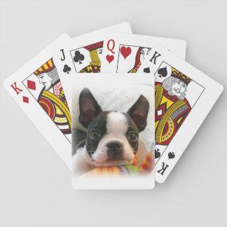 Welpen-Spielkarten Bostons Terrier Spielkarten