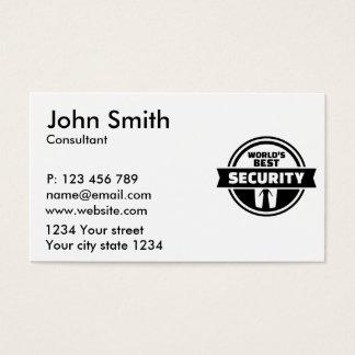 Welt' beste Sicherheit Visitenkarten